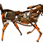 photo of scrap metal horse